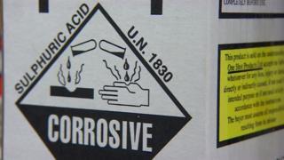 Sulphuric acid sign