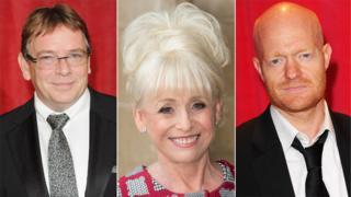 Adam Woodyatt, Dame Barbara Windsor and Jake Wood