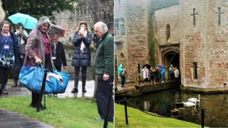 New bell-ringing swans at The Bishop's Palace