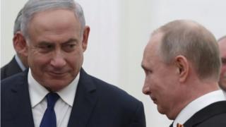 Benjamin Netanyahu y Vladimir Putin en Moscú