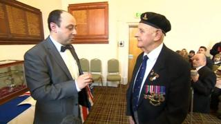 Ernest Turner receiving the Legion d'Honneur from the French republic