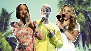Rihanna, Justin Bieber and Shakira