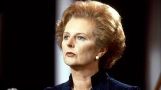 Margaret Thatcher speaking at the Conservative conference in 1981