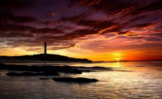 Lossiemouth Lighthouse at sunset