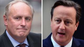 Власник Daily Mail Джонатан Хармсворт і прем'єр Девід Кемерон