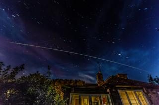 The International Space Station passing over Oxfordshire