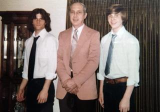 Paul with his father Chester and brother Dave