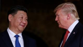 Trump y Xi Jinping.