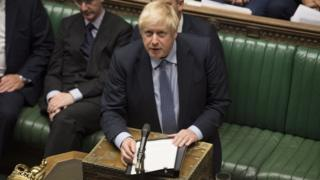Boris Johnson at the dispatch box in the Commons on 4 September