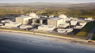 A computer generated image of the planned nuclear power plant at Hinkley Point