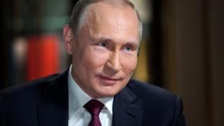 Mr Putin during interview with Megyn Kelly for NBC (taken on 2 March)