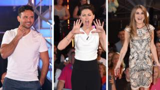 This year's Celebrity Big Brother winner Ryan Thomas, presenter Emma Willis and Nikki Grahame from Big Brother 7