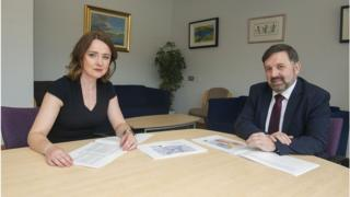 Siobhan O'Neill and Robin swann