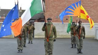Republican parade in Lurgan