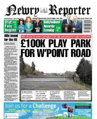 front page Newry reporter Wednesday 20 February 2019
