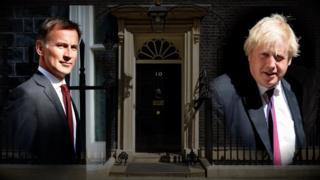 Jeremy Hunt na Boris Johnson