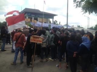 demo anti pembangunan bandara yogyakarta