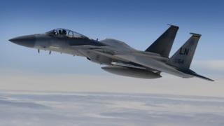 Uma águia F-15C