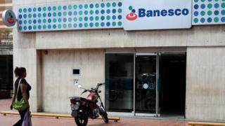 Una oficina de Banesco en Caracas.