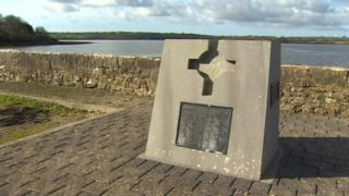 Photo of the memorial overlooking the Eastern Cleddau