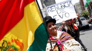 Os protestos contra Morales chegaram a reunir alguns de seus ex-aliados