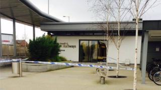 The thieves tried to drag the ATM out of Portadown station by tying it to a vehicle