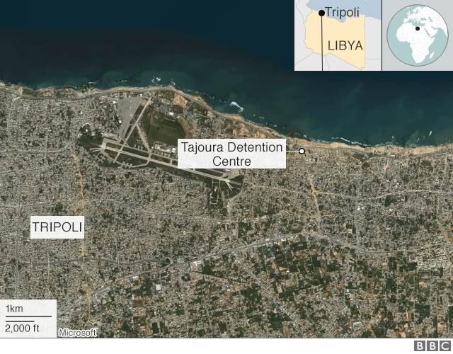 Libya migrants: Attack kills dozens at detention centre