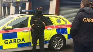 The guns were found in a warehouse in the Greenogue industrial estate