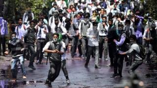 تظاهرکنندگان در کشمیر (عکس از آرشیو)