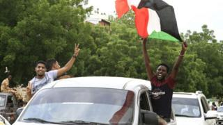 Celebrations In Sudan following the agreement
