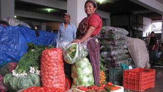Vendedora de verduras de Almolonga