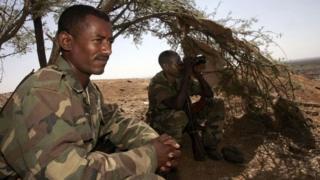 Wanajeshi wa Ethiopia katika doria