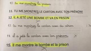 Anderlecht'de göçmenlere yönelik Fransızca kursunda okutulan ders kitabı