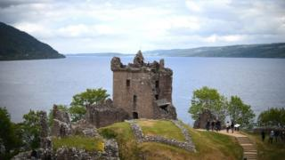 Urquhart Castle on the banks of Loch Ness in the Highlands