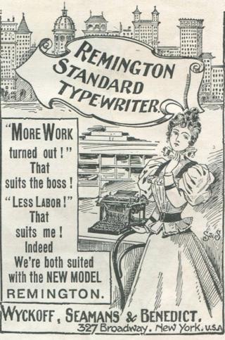 打字机广告