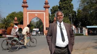 "Professor S.R. Siras of Aligarh Muslim University suspended for being ""Gay"" at Aligarh Muslim University Campus in Aligarh,"