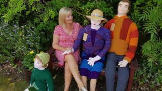 Penny Evans and knitted family