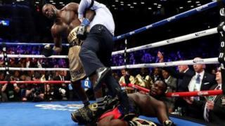 Deontay Wilder baada ya kumpiga knockout Bermaine Stiverne siku ya Jumamosi