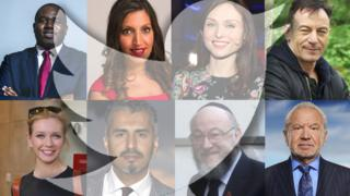 David Lammy, Rosena Allin-Khan, Sophie Ellis-Bextor, Jason Isaacs, Rachel Riley, Maajid Nawaz, Ephraim Mirvis, and Lord Sugar