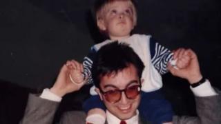 David Watkins with his elder son Stephen