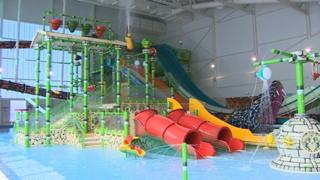 Water slides at the new SC2
