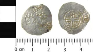 A silver penny from King Stephen's reign
