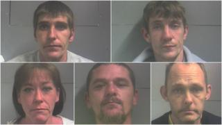 Jailed: Clockwise - Phillip Williams, Samiel Thorne, Darren Polvernio, David Williams, Debbie Wood