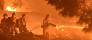 kebakaran, listrik, california