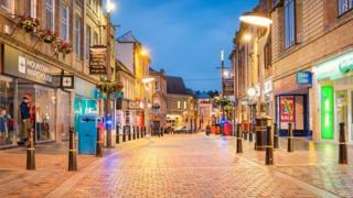 High street in Inverness