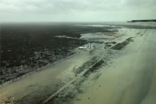 Devastation on the Abaco Islands, Marsh Harbour airport