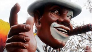 A model of a man in 'blackface'