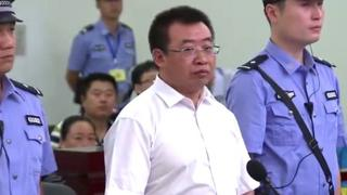 Jiang Tianyong in court in August 2017