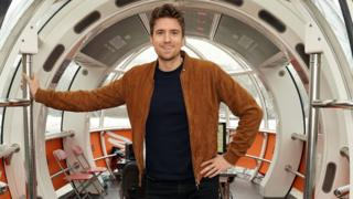 Greg James at a BBC Sounds launch at the London Eye in November