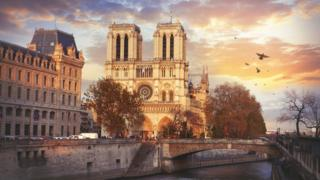 Notre Dame antes del incendio.